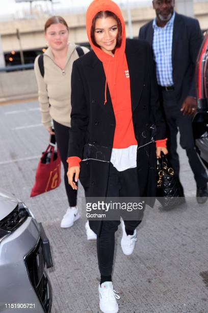 Zendaya at JFK Airport on June 25 2019 in New York City