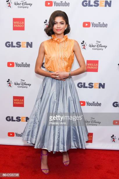 Zendaya attends 2017 GLSEN Respect Awards Arrivals at the Beverly Wilshire Four Seasons Hotel on October 20 2017 in Beverly Hills California