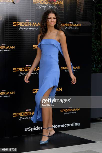 Zendaya attends a photocall for 'SpiderMan Homecoming' at the Villa Magna Hotel on June 14 2017 in Madrid Spain