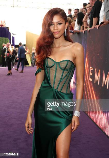 Zendaya attends FOXS LIVE EMMY RED CARPET ARRIVALS during the 71ST PRIMETIME EMMY AWARDS airing live from the Microsoft Theater at L.A. LIVE in Los...