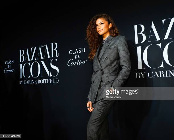 "Zendaya attends Harper's BAZAAR Celebrates ""ICONS By Carine Roitfeld"" Presented By Cartier at The Plaza Hotel on September 06, 2019 in New York City."