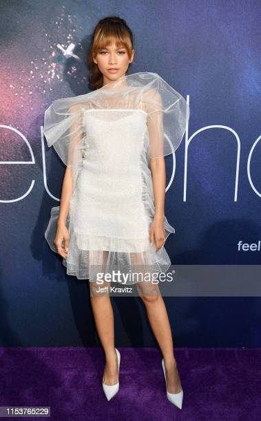 """Zendaya attends HBO's """"Euphoria"""" premiere at the Arclight Pacific Theatres' Cinerama Dome on June 04, 2019 in Los Angeles, California."""