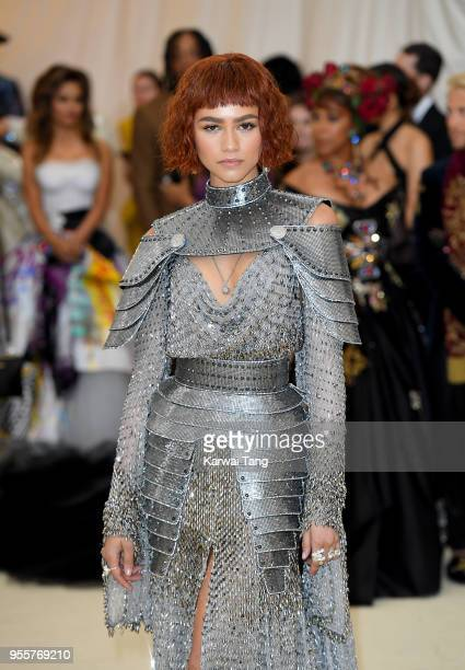 Zendaya attends Heavenly Bodies Fashion The Catholic Imagination Costume Institute Gala at the Metropolitan Museum of Art on May 7 2018 in New York...