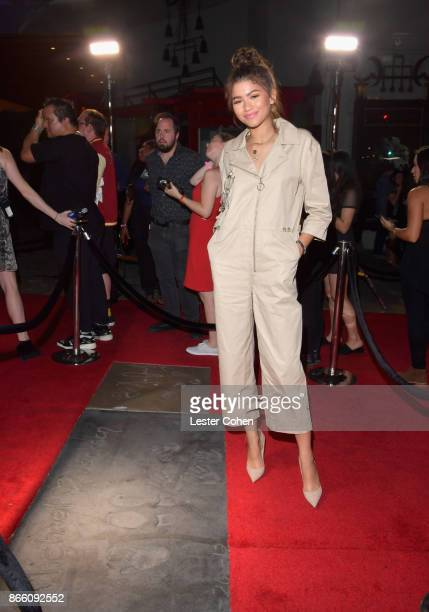 Zendaya attends Michael Jackson Scream Album Halloween Takeover at TCL Chinese 6 Theatres on October 24 2017 in Hollywood California
