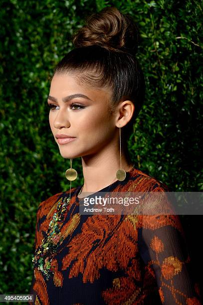 Zendaya attends the 12th annual CFDA/Vogue Fashion Fund Awards at Spring Studios on November 2, 2015 in New York City.