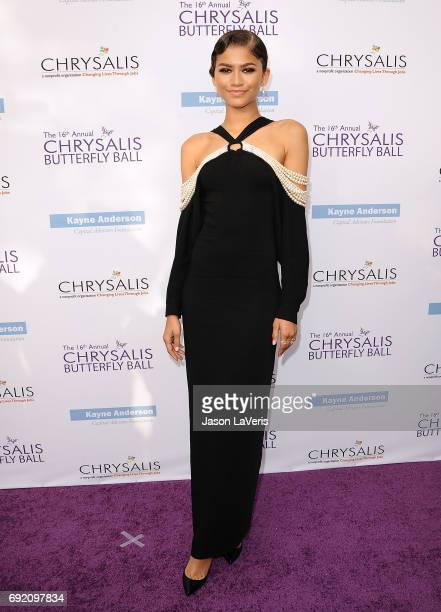 Zendaya attends the 16th annual Chrysalis Butterfly Ball on June 3 2017 in Brentwood California