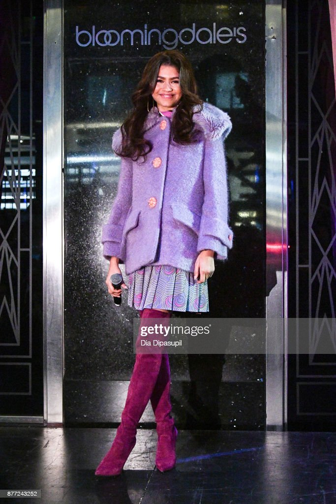 Zendaya attends the 2017 Bloomingdale's Holiday Windows Unveiling at Bloomingdale's on November 21, 2017 in New York City.