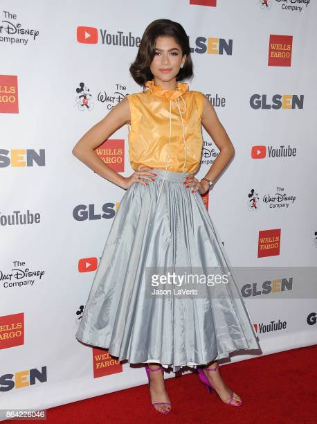Zendaya attends the 2017 GLSEN Respect Awards at the Beverly Wilshire Four Seasons Hotel on October 20 2017 in Beverly Hills California