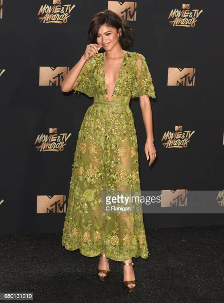 Zendaya attends the 2017 MTV Movie And TV Awards on May 7, 2017 in Los Angeles, California.