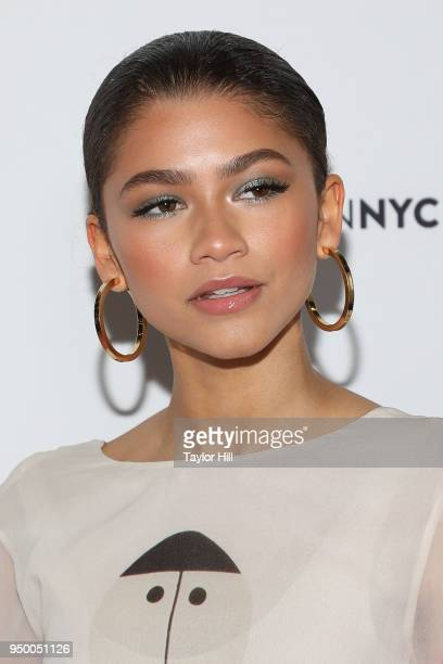 Zendaya attends the 2018 Beautycon NYC at The Jacob K Javits Convention Center on April 22 2018 in New York City