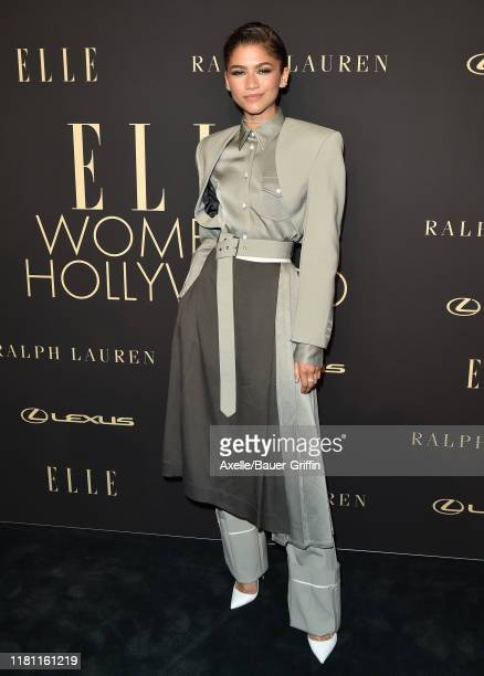 Zendaya attends the 2019 ELLE Women In Hollywood at the Beverly Wilshire Four Seasons Hotel on October 14, 2019 in Beverly Hills, California.