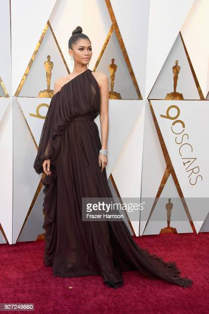 Zendaya attends the 90th Annual Academy Awards at Hollywood Highland Center on March 4 2018 in Hollywood California