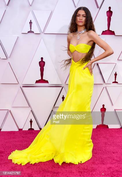 Zendaya attends the 93rd Annual Academy Awards at Union Station on April 25, 2021 in Los Angeles, California.