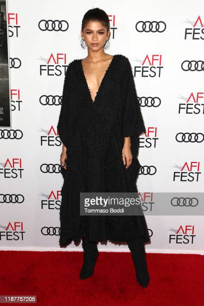 """Zendaya attends the AFI FEST 2019 Presented By Audi premiere of """"Queen & Slim"""" at TCL Chinese Theatre on November 14, 2019 in Hollywood, California."""