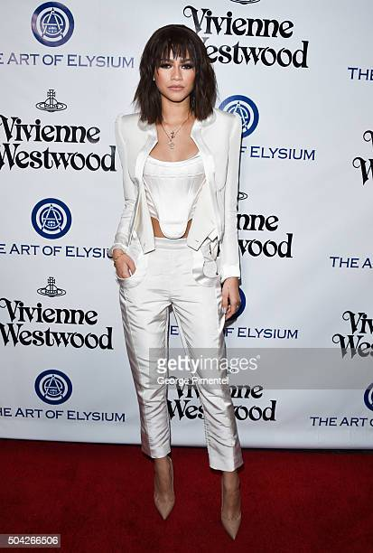 Zendaya attends the Art of Elysium 2016 HEAVEN Gala presented by Vivienne Westwood Andreas Kronthaler at 3LABS on January 9 2016 in Culver City...