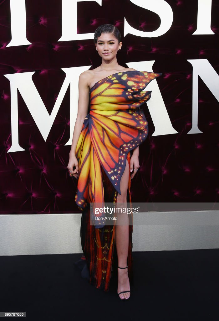 Zendaya attends the Australian premiere of The Greatest Showman at The Star on December 20, 2017 in Sydney, Australia.