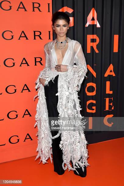 Zendaya attends the Bvlgari B.zero1 Rock collection event at Duggal Greenhouse on February 06, 2020 in Brooklyn, New York.
