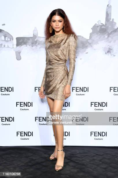 Zendaya attends the Cocktail at Fendi Couture Fall Winter 2019/2020 on July 04 2019 in Rome Italy