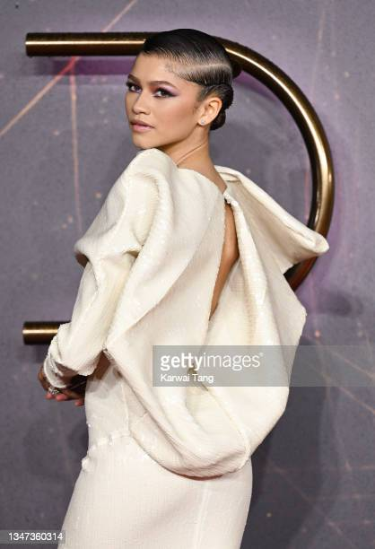 """Zendaya attends the """"Dune"""" UK Special Screening at Odeon Luxe Leicester Square on October 18, 2021 in London, England."""