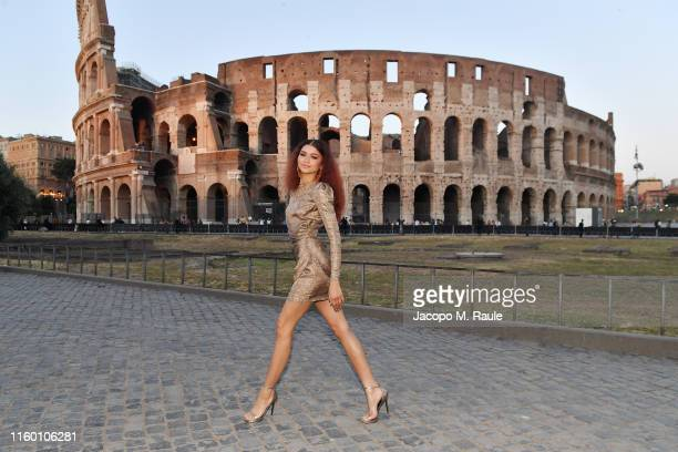 Zendaya attends the Fendi Couture Fall Winter 2019/2020 Dinner on July 04 2019 in Rome Italy