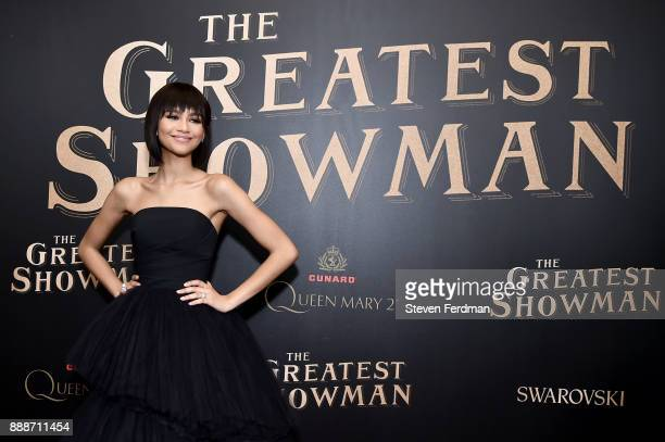 Zendaya attends 'The Greatest Showman' World Premiere aboard the Queen Mary 2 at the Brooklyn Cruise Terminal on December 8 2017 in the Brooklyn...