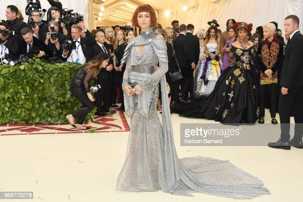 Zendaya attends the Heavenly Bodies Fashion The Catholic Imagination Costume Institute Gala at The Metropolitan Museum of Art on May 7 2018 in New...