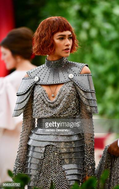 Zendaya attends the Heavenly Bodies: Fashion & The Catholic Imagination Costume Institute Gala at The Metropolitan Museum of Art on May 7, 2018 in...