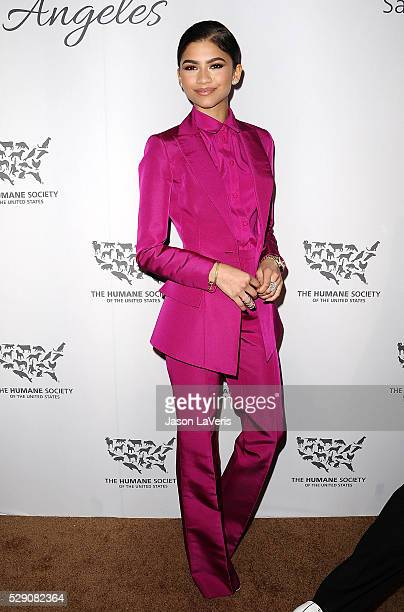 Zendaya attends The Humane Society of The United States' To The Rescue gala at Paramount Studios on May 07 2016 in Hollywood California
