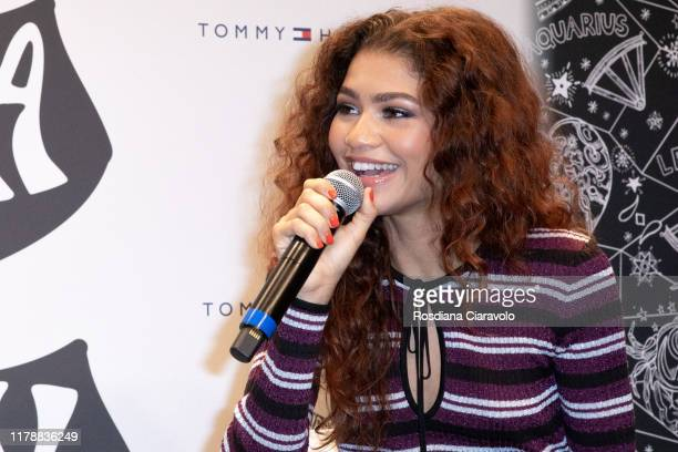 Zendaya attends the launch of the Collection TommyXZendaya on October 03 2019 in Milan Italy
