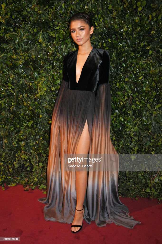 Zendaya attends the London Evening Standard Theatre Awards 2017 at the Theatre Royal, Drury Lane, on December 3, 2017 in London, England.
