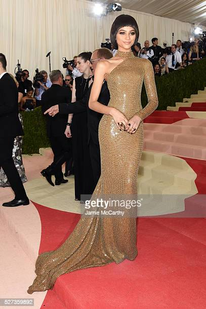Zendaya attends the 'Manus x Machina Fashion In An Age Of Technology' Costume Institute Gala at Metropolitan Museum of Art on May 2 2016 in New York...