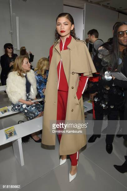Zendaya attends the Michael Kors Collection Fall 2018 Runway Show at Vivian Beaumont Theatre at Lincoln Center on February 14 2018 in New York City