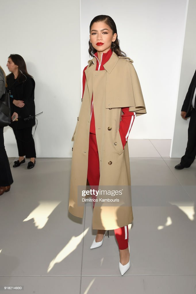 Zendaya attends the Michael Kors Collection Fall 2018 Runway Show at Vivian Beaumont Theatre at Lincoln Center on February 14, 2018 in New York City.