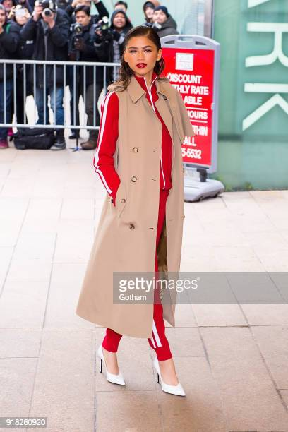 Zendaya attends the Michael Kors fashion show during New York Fashion Week at the Vivian Beaumont Theater at Lincoln Center on February 14, 2018 in...