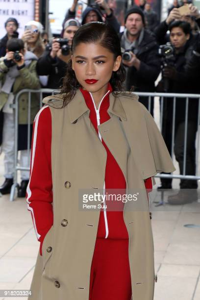 Zendaya attends the Michael Kors Show during the New Yorl Fashion Week 2018 on February 14 2018 in New York City