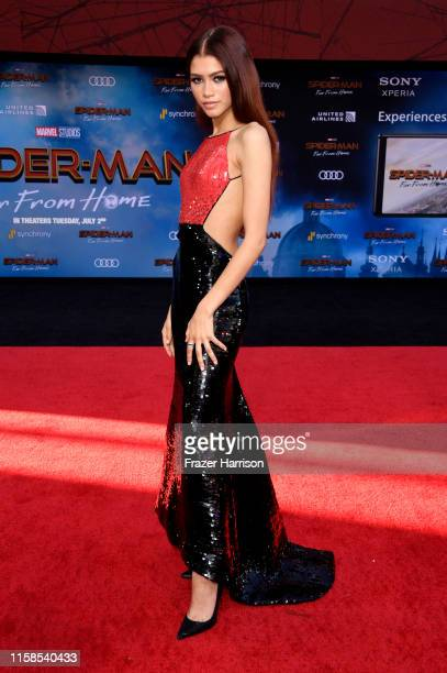 """Zendaya attends the Premiere Of Sony Pictures' """"Spider-Man Far From Home"""" at TCL Chinese Theatre on June 26, 2019 in Hollywood, California."""