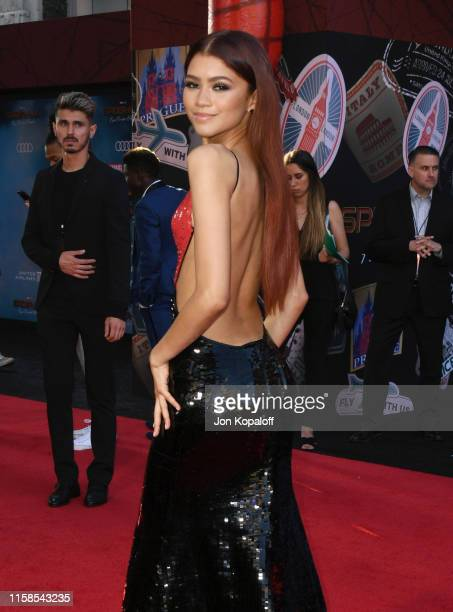 Zendaya attends the Premiere Of Sony Pictures' SpiderMan Far From Home at TCL Chinese Theatre on June 26 2019 in Hollywood California