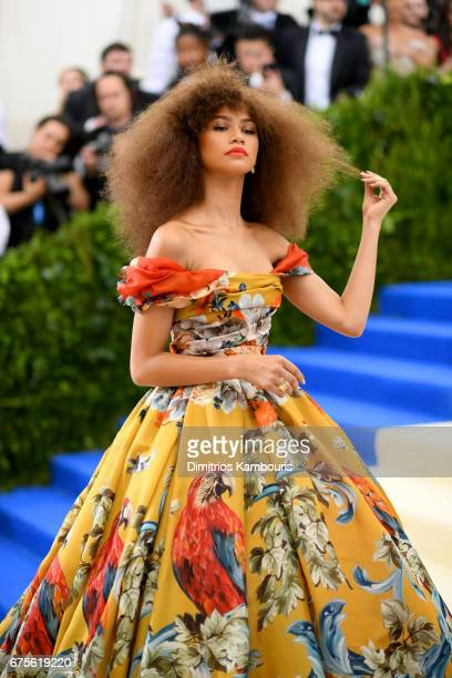Zendaya attends the 'Rei Kawakubo/Comme des Garcons Art Of The InBetween' Costume Institute Gala at Metropolitan Museum of Art on May 1 2017 in New...