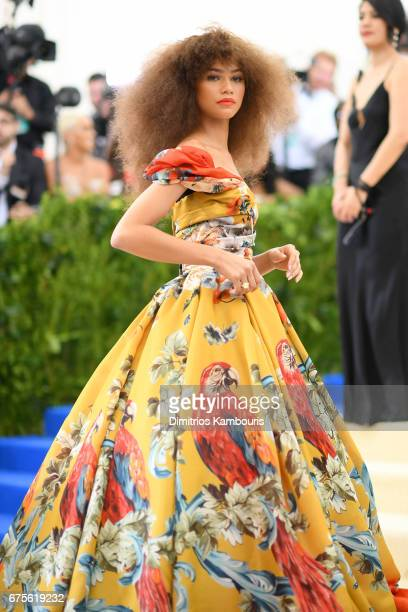 "Zendaya attends the ""Rei Kawakubo/Comme des Garcons: Art Of The In-Between"" Costume Institute Gala at Metropolitan Museum of Art on May 1, 2017 in..."