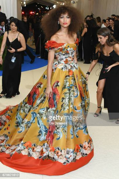 Zendaya attends the Rei Kawakubo/Comme des Garcons Art Of The InBetween Costume Institute Gala at Metropolitan Museum of Art on May 1 2017 in New...