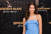 zendaya attends spiderman homecoming movie photocall