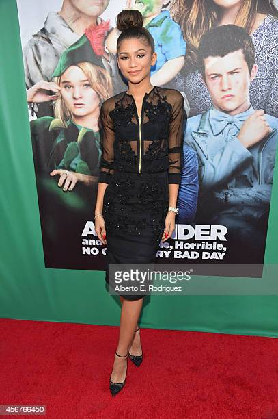 Zendaya attends The World Premiere of Disney's Alexander and the Terrible Horrible No Good Very Bad Day at the El Capitan Theatre on October 6 2014...