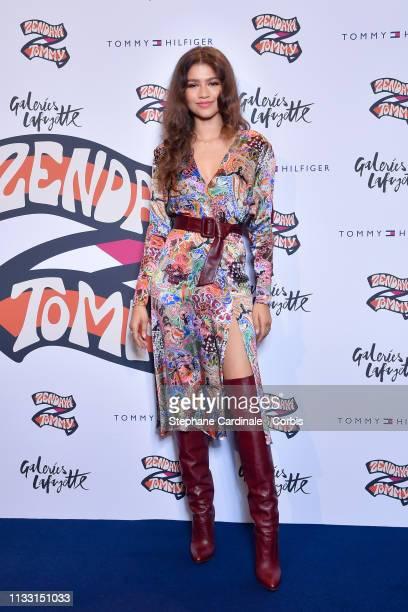 Zendaya attends Tommy Hilfiger TOMMYNOW Spring 2019 TommyXZendaya on March 02 2019 in Paris France