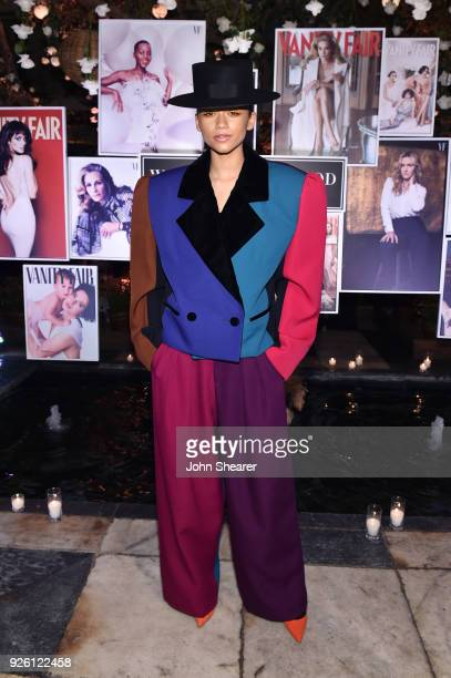Zendaya attends Vanity Fair and Lancome Paris Toast Women in Hollywood hosted by Radhika Jones and Ava DuVernay on March 1 2018 in West Hollywood...