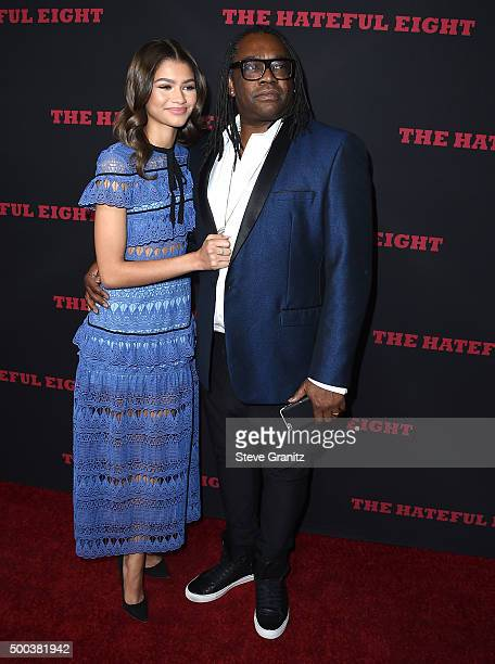Zendaya Coleman and Kazembe Ajamu Coleman arrives at the Premiere Of The Weinstein Company's The Hateful Eight at ArcLight Cinemas Cinerama Dome on...