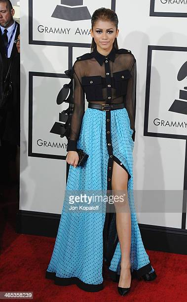 Zendaya Coleman arrives at the 56th GRAMMY Awards at Staples Center on January 26, 2014 in Los Angeles, California.