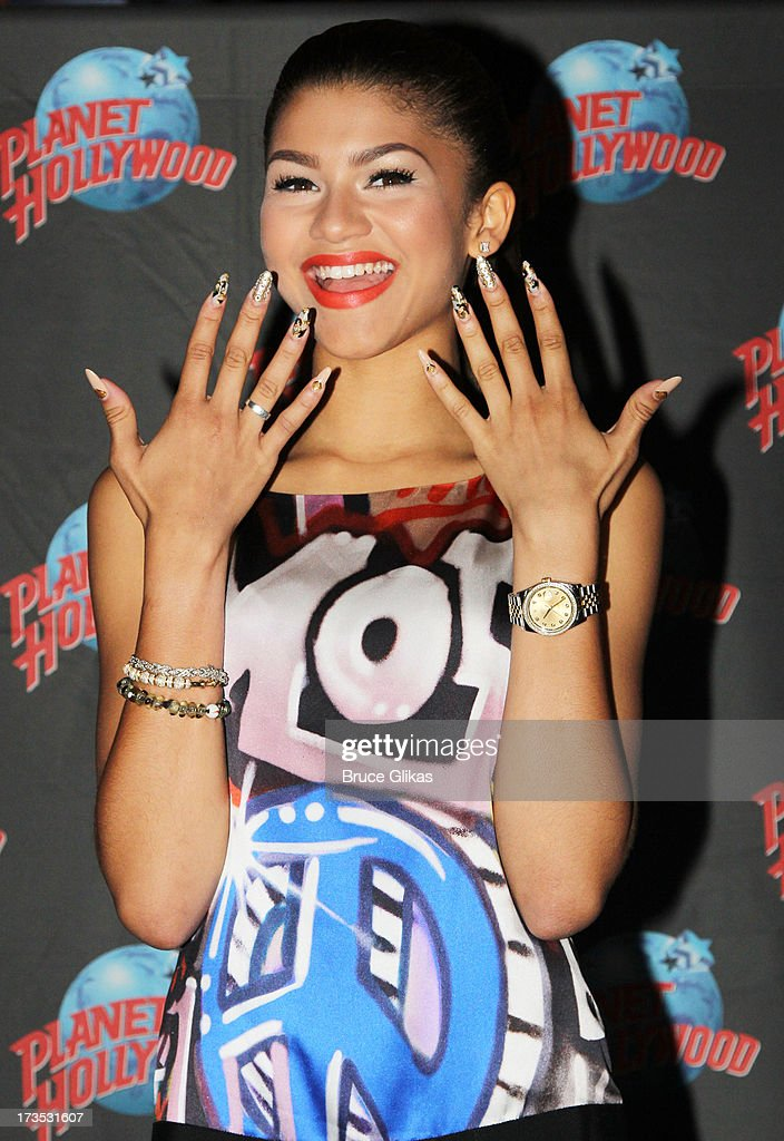 Zendaya Coleman attends her Hand Print Ceremony at Planet Hollywood Times Square on July 15, 2013 in New York City.