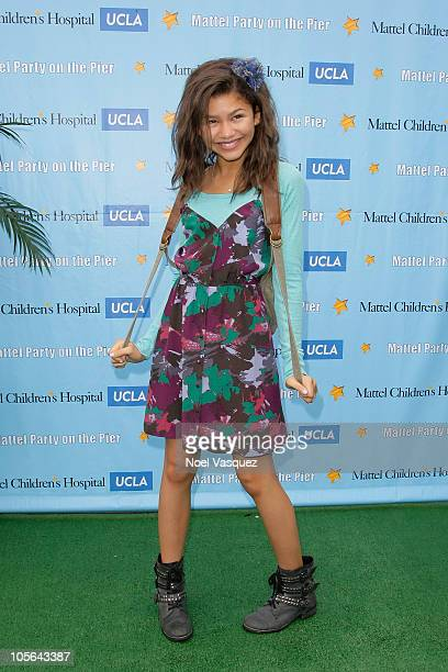 Zendaya Coleman attends the 11th Annual Mattel Party on The Pier at the Santa Monica Pier on October 17 2010 in Santa Monica California