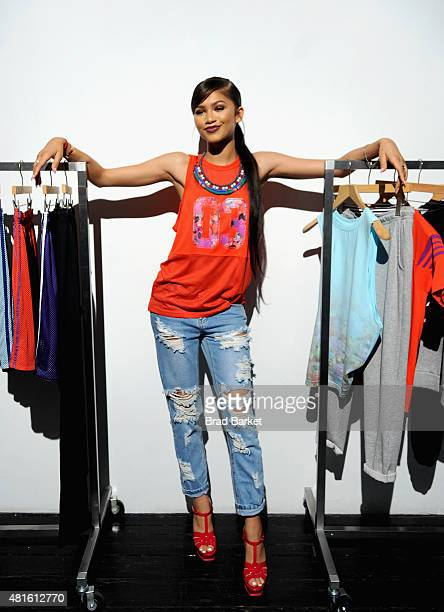 Zendaya Coleman attends the adidas Unveils The adigirl Collection on July 22 2015 in New York City