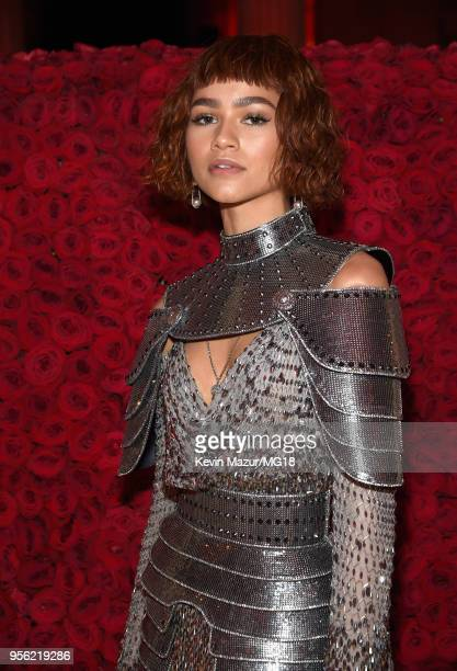 Zendaya Coleman attends the Heavenly Bodies: Fashion & The Catholic Imagination Costume Institute Gala at The Metropolitan Museum of Art on May 7,...